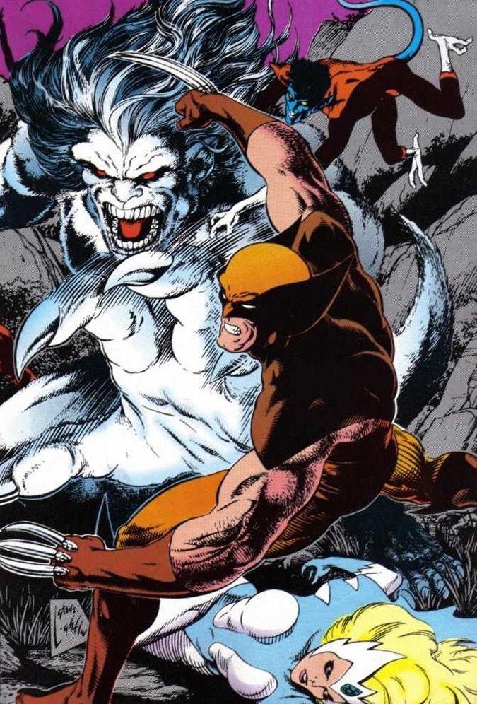 Wolverine, Snowbird, Nightcrawler vs Wendigo