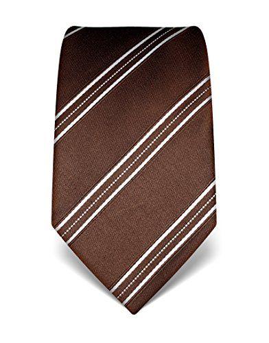 110 kr. (spar 317 kr.) VB Tie, pure silk, striped,dark brown VB…