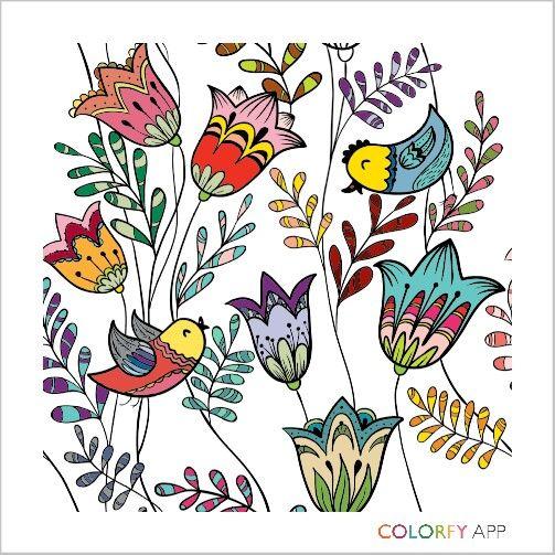 Flock of birds #loveart #editedmyself #lovecolorfyapp