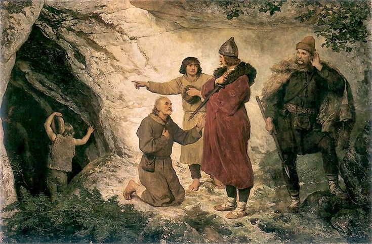 Wojciech Gerson - Łokietek pod Ojcowem, 1890
