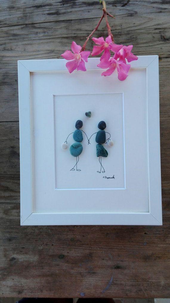 Pebble art friends pebble art gift Friend by pebbleartSmiljana