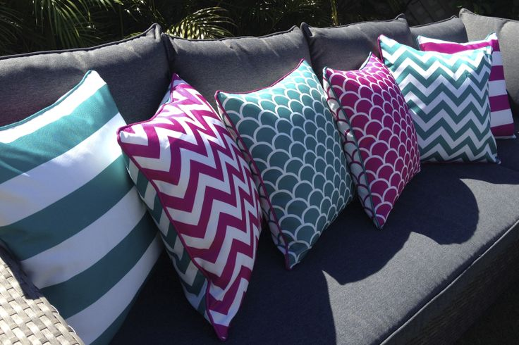 We have taken the thinking out of it for you, Outdoor cushion covers that are made for Mixing and Matching. Outdoor UV treated, mildew and water proof cushion covers 45x45cm available from www.beachabodeliving.com.au