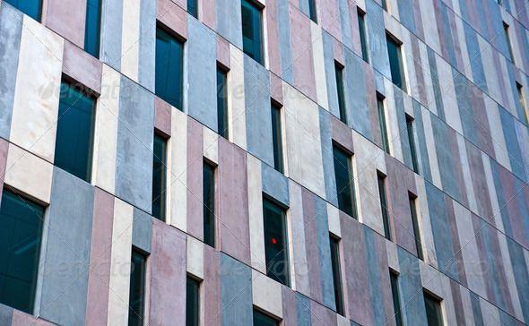 Concrete facade of an office building