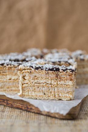 Ciasto orzechowo – kokosowe bez pieczenia. No bake walnut and coconut cake. Scroll down for recipe in English.