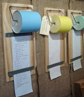 Message boards using adding machine tape rolls Perfect 4 the Mountain 4 my to bring list 4 the next trip!