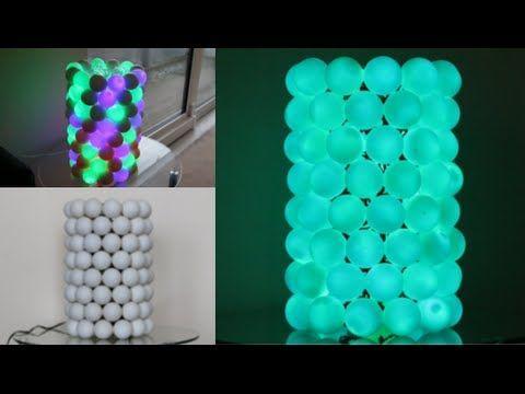 How To Make An Illuminated Ping Pong Ball Lamp! - YouTube