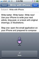 Write your next article, using your iPhone...I did!