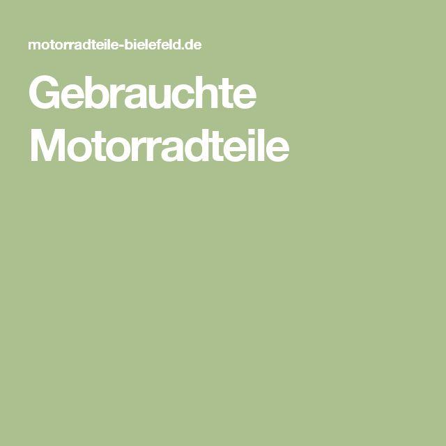 Gebrauchte Motorradteile