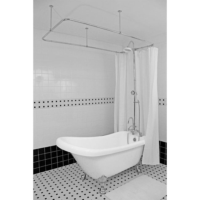 spa collection 57 inch single slipper clawfoot tub and