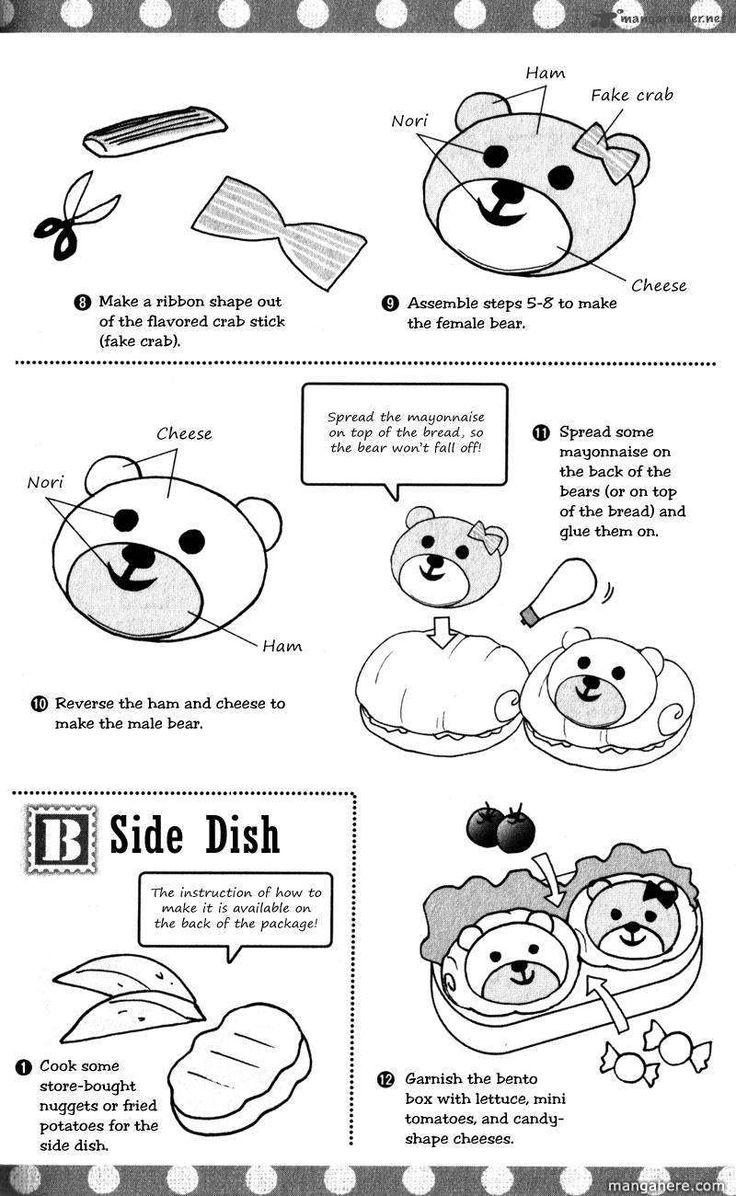 Kuma-san Egg Sandwich, Side Dish recipe part 2 - Hatsukoi Lunch Box by Kodaka Nao