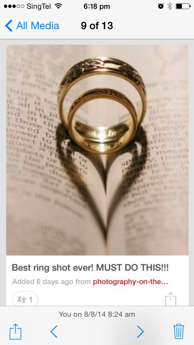 Pre wedding shot -Ring shot can include the wedding verse of the couple