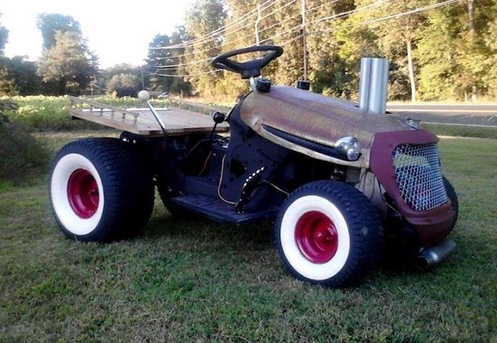 Custom Garden Tractor Wheels : Redneck rat rod lawn mower matrix pinterest