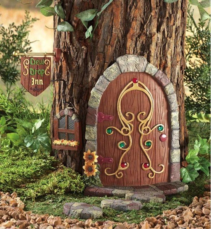 Fairy door on a tree ecc nature play garden pinterest for Gnome doors for trees