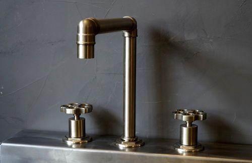 Washbasin double-handle mixer tap / free-standing / metal / for bathrooms INDUSTRY 082.3.33.00 MARGOT