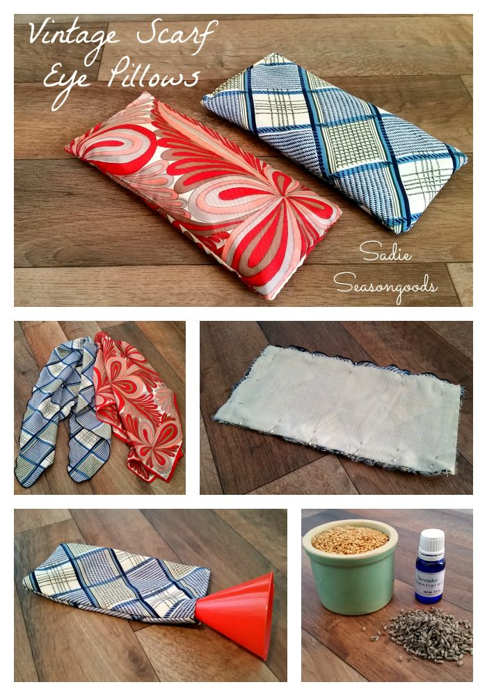 DIY des bouillottes sèches toutes douces avec d'anciens foulards en soie