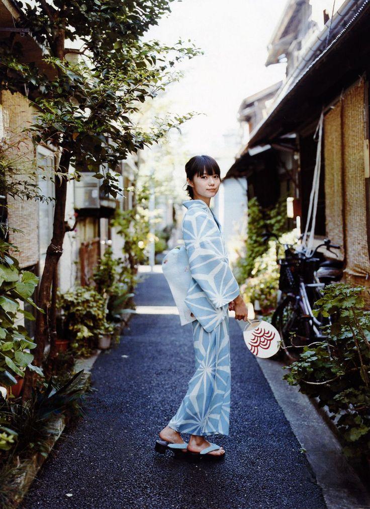 Miyazaki Aoi / mame-chiyo yukata [asanoha]