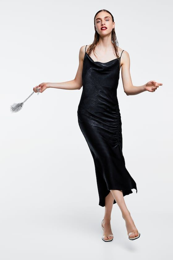 a3c8ecb5 Image 4 of DRAPED LINGERIE-STYLE SATIN DRESS from Zara | outfits f/w ...