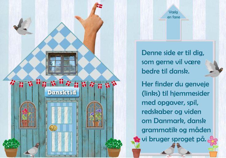 """""""Dansktid"""" er en startside lavet til elever med dansk som andetsprog og andre som gerne vil træne deres danskfærdigheder. Her kan man finde gratis danskopgaver og links til danskfaglige webressourcer (Siden er lavet af Eva Strandberg, www.skolestuen.dk)"""
