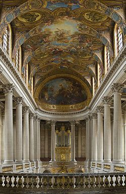Chapel of VersaillesFrench Interiors, Palaces Of Versailles, Versailles Chapel, Palace Of Versailles, French Architecture, Ceilings Art, Baroque Architecture, Architecture Details, Versailles France