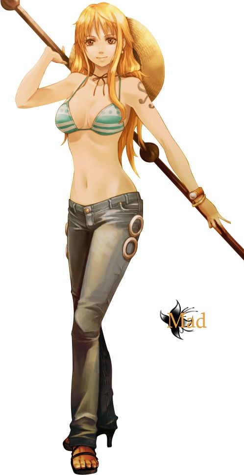 Render one piece renders nami one piece pirate bikini - Nami 2 ans plus tard ...