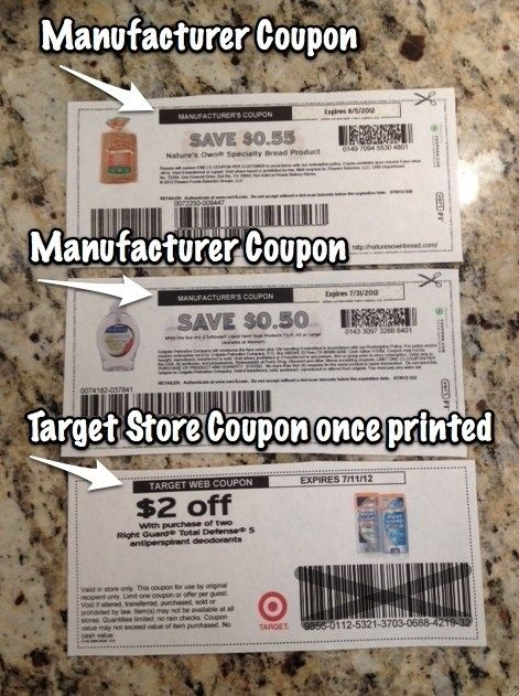 Know the difference between manufacturer and store coupons.