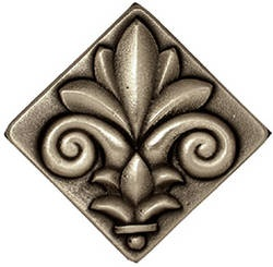 The French Flower in Silvertone bronze