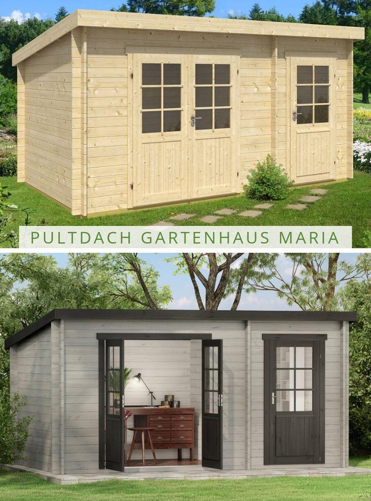 Pultdach Gartenhaus Maria (ISO) mit Anbau in 2020