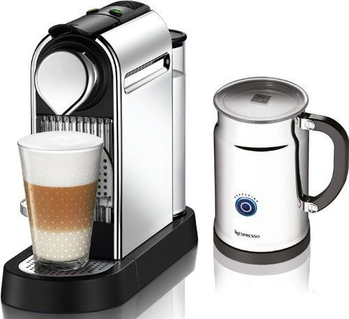Conceived to please both enthusiasts of Nespresso and lovers of modern design, Citiz is the expression of the union between high tech and retro-modern design inspirations. Set includes the Nespresso Aeroccino Plus milk frother: rapid one touch preparation of hot or cold milk froth. Enjoy Cappuccinos, Lattes and Macchiatos in a completely new experience. Nespresso began more than 25 years ago with a simple but revolutionary idea, to create the perfect cup of Espresso coffee with exquisite…