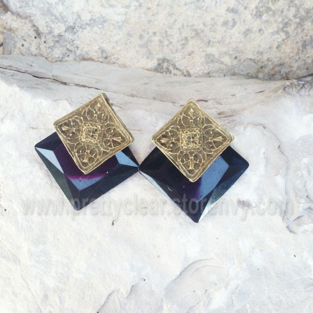 Pretty Clear | Black and Bronze Earrings | Online Store Powered by Storenvy