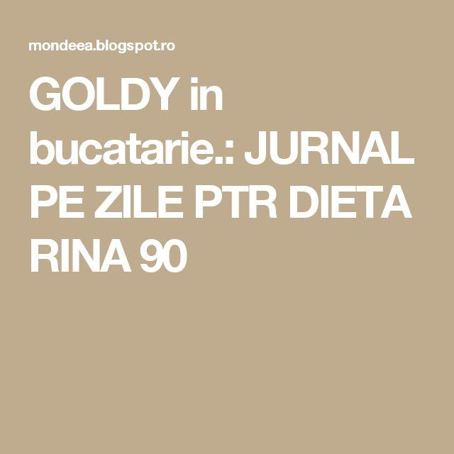 GOLDY in bucatarie.: JURNAL PE ZILE PTR DIETA RINA 90