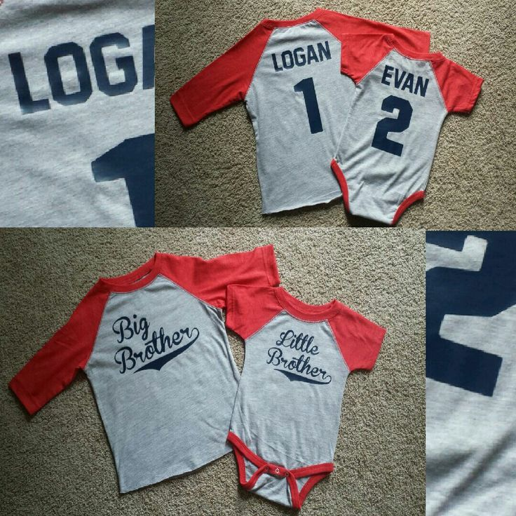 HTV project...big and little brother baseball shirts.