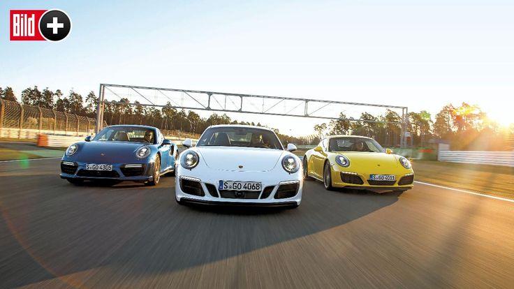 *** BILDplus Inhalt *** Carrera 4 GTS, 4S & Turbo - Welcher Porsche 911 macht das Rennen?