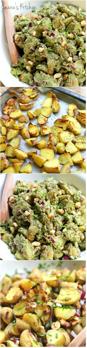 Roasted Potato Pesto Salad | Recipe | Summer, Potatoes and ...