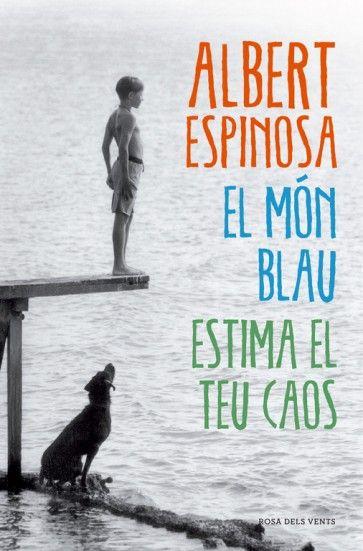 El món blau es la nova novel·la de l'Albert Espinosa; una història que enllaça amb El món groc i Polseres vermelles i amb la que es tanca una trilogia de colors que parlen de vida, de lluita i de mort.