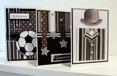 Masculine black and white cards - MoskiDesign