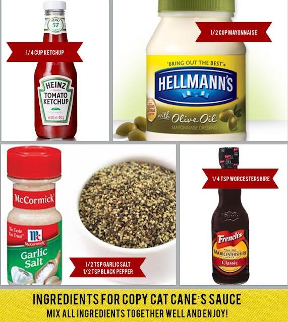 Raising Cane's sauce