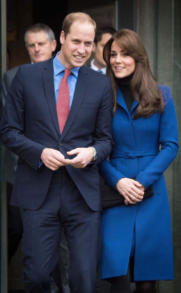 Kate Middleton Looks Regal in a Royal Blue Coatdress, Reveals Safety Concerns for Prince William and Prince George | E! Online Mobile: