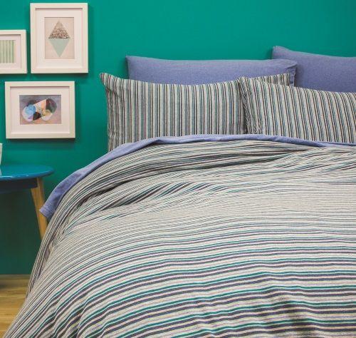 Bed T Quilt Set Capri Stripe Blue
