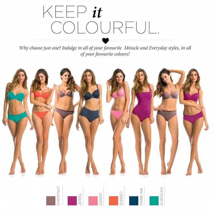 Why choose just one? All of your favourite Miracle and Everyday styles are available in all of your favourite colours! Mix it up on every day of the week! www.intimo.com.au