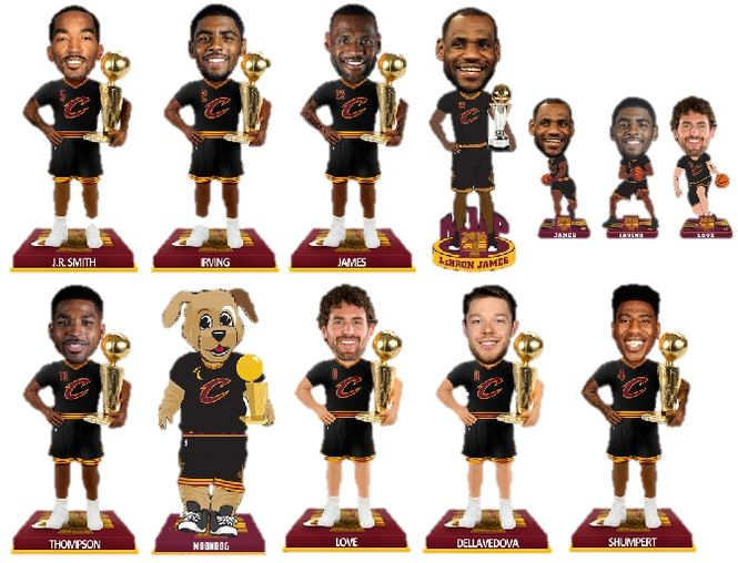 Pre-order sales for Cavs championship bobbleheads are outselling all others for all sports.