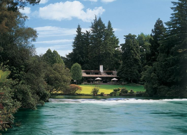Huka Lodge Taupo New Zealand Stayed  with my husband here with our honeymooning friends many years ago A fun time