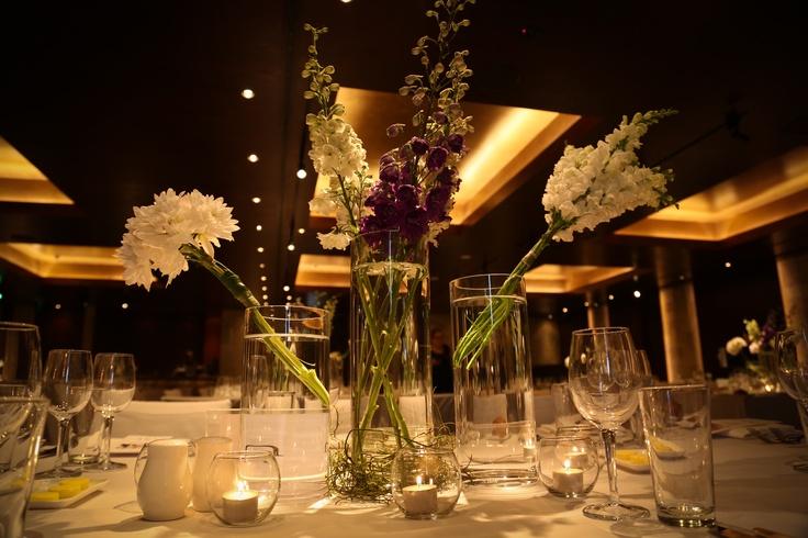 Touch of purple - Wedding centerpiece