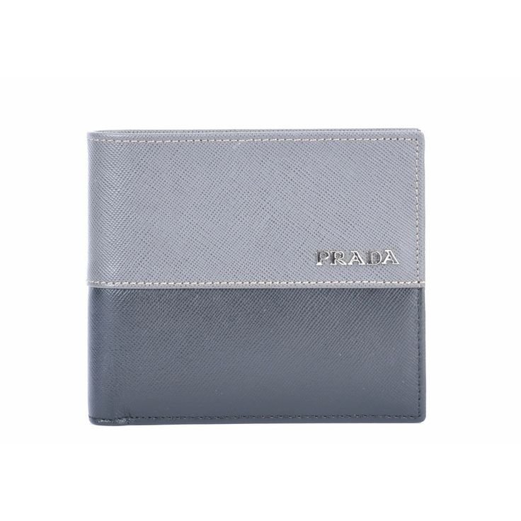 outle prada men's wallet 2m0738 - gray wallets on sale SG$170.00