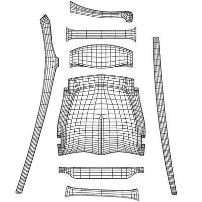 Template for creating a Sam Maloof dining chair.  Always love to know how things are made!