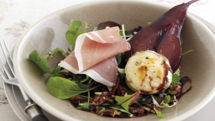 You'll find the ultimate Parma Ham, Mulled Poached Pear and Goat's Cheese Salad recipe and even more incredible feasts waiting to be devoured right here on Food Network UK.