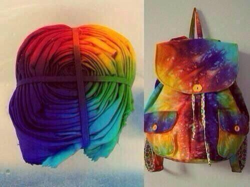 I need to make a tie dye bag asap