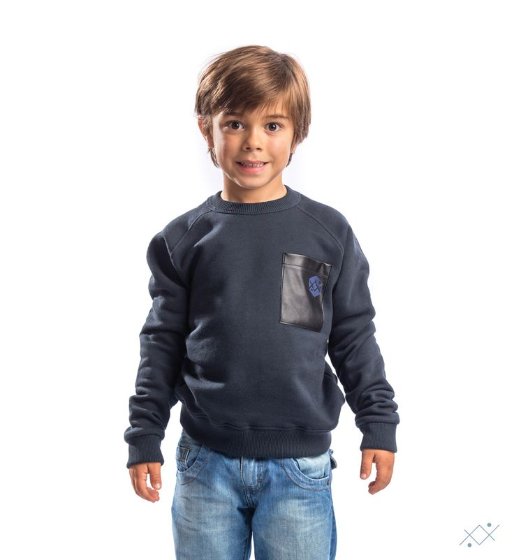 "Combined with simple pants, allows your child to get a sleek and irreverent ""look"".   Ocean Stitch - small details proudly made in Portugal"