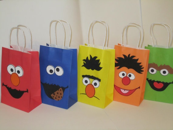 Sesame Street goodie bags | Party Themes | Pinterest | Goodie bags ...
