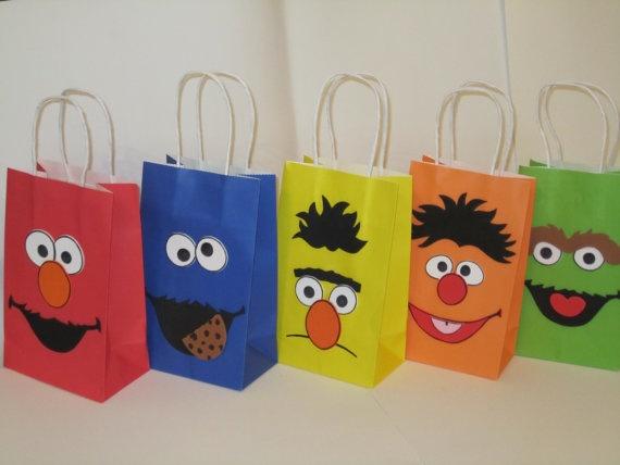 Sesame Street Goodie Bags Damian S Party Pinterest