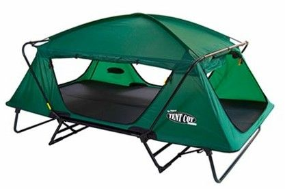 "This summer, double your pleasure while camping with the Kamp-Rite ""The Double"" Tent Cot. Giving you double the room, The Double is super comfortable and fits two people. Longer than a queen-size bed and almost as wide, this Kamp-Rite tent cot can safely support up to 500 lbs. Made of durable 210D poly-oxford fabric with a PU waterproofed coating and supported by an aluminum frame, The Double features sleeping quarters that have their own entry point as will as 3/8"" foam sleep pad. Other…"